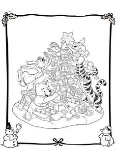 Disney Christmas Coloring Pages Picture 12 550x711