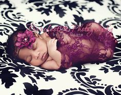 Hey, I found this really awesome Etsy listing at https://www.etsy.com/listing/96848330/plum-purple-floral-lace-fabric-stretch toddler photos, baby girl headbands, babi idea, photo props, purple flowers, photographi idea, lace wrap, newborn photography props, babi girl