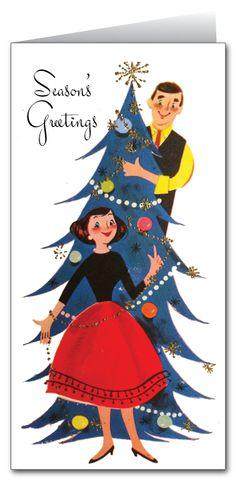 Retro Vintage Holiday Card : Harrison Greetings, Business Greeting Cards, Cartoon Humor Greeting Cards, Holiday Greeting Cards, Christmas Greeting Cards