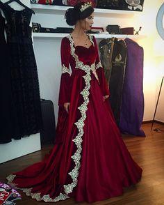 burgundy prom dresses,velvet prom dresses,Muslim prom dress,Long Sleeves