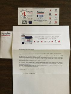 Free Aquaphor  from   Dr. Oz  #freestuff #freebies #samples #free