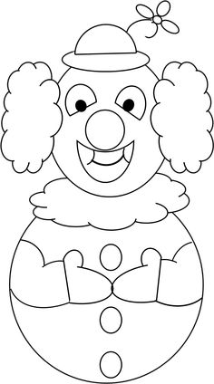 clown face template printable | Clown's Face Coloring page ...