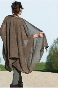 Pine by ruke. Fall fashions, lomg drape cardigan shrug