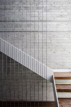 Perhaps just straight lines/rods to encase the open gap under spiral stairs -- extend down through the tread to secure the gap axelrod-architects
