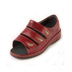63b54d6addc Clara Ladies Extra Wide Sandal 6E Red Sandals