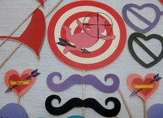 Anti Valentine's Day Photo Booth Props - Shot and targeted cupid