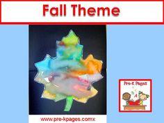 Fall theme ideas for your pre-k, preschool or kindergarten classroom.