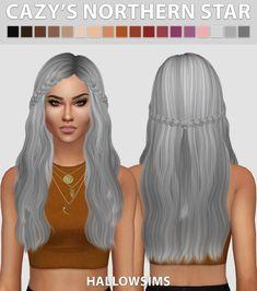 Hallow Sims: Cazy's Northern Star hair retextured - Sims 4 Hairs - http://sims4hairs.com/hallow-sims-cazys-northern-star-hair-retextured/