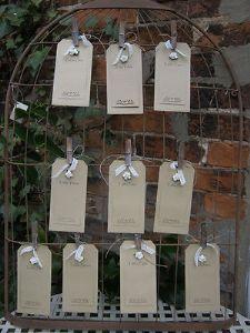 Birdcage Card Holder Rustic Vintage Wedding Table Plan Shabby Chic Memo Holder