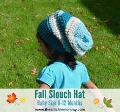 Fall Slouch Hat - Baby Size 6-12 Months | free crochet-a-long pattern on www.thestitchinmommy.com