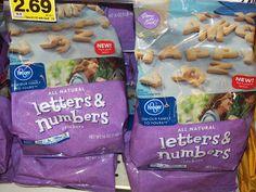 Kroger sells Alphabet Cookies for a Secret Code Snack!