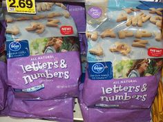 Kroger sells Alphabet Cookies for a Secret Code Snack!