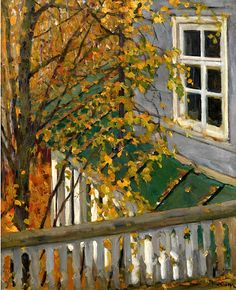 bofransson:  YUON, KONSTANTIN(1875-1958)View from a Balcony in Autumn