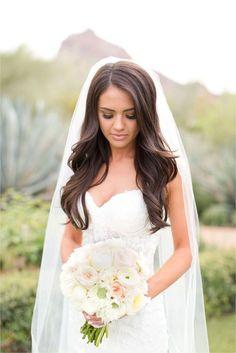 40 wedding hair down with veil ideas 28