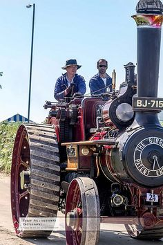 refurbished antique steam tractors at the Stithians Steam Fair - The West of England Steam Engine Society
