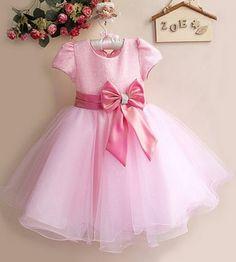 vestido infantil rosa princesa
