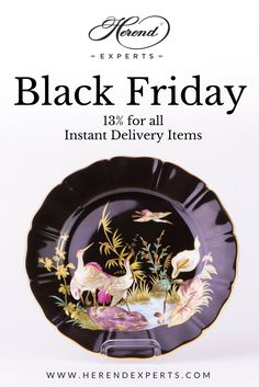 """#blackfriday for #herend #porcelain items! You get 13% this Friday - Sunday for all the """"Instant Delivery"""" items and sets.  Why? We want to clear up our shop to make room for new, rare porcelain items, to create nice new photos! For #tea, #coffee and #dinnerware check www.herendexperts.com For #animal #figurines www.herendanimals.com Coupon code: black-friday-2017"""
