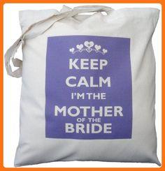 The Cotton Bag Store Ltd Keep Calm The Mother Of The Bride Cotton Shoulder Bag 38m x 41cm Cream - Shoulder bags (*Amazon Partner-Link)