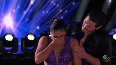 On Monday's Dancing with the Stars, Olympic gymnast Laurie Hernandez took a break from her rehearsal schedule to visit her ailing grandmother. Hernandez hoped to bring back the Mirror Ball trophy to share with her grandmother.  While back in Los Angeles, Laurie received the sad news her grandmother, Brunilda, passed away from Alzheimer's disease. The show played an inspiring message that Hernandez's grandmother had recorded before she passed away.  Laurie Hernandez gave a beautiful…
