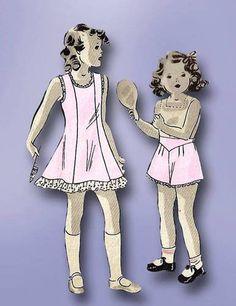 1940s WWII Toddler's Slip Panties Pattern Vintage Hollywood Sewing Pattern Sz4 | eBay