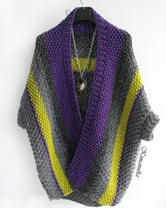 63 de The Effective Pictures We Offer You About knitting jacket A quality picture can tell you many things. Crochet Jacket, Knit Jacket, Crochet Cardigan, Crochet Shawl, Knit Crochet, Knitwear Fashion, Crochet Fashion, Knitting Designs, Knitting Patterns