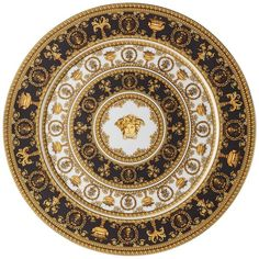 Versace Home I Love Baroque Charger (1.020 RON) ❤ liked on Polyvore featuring home, kitchen & dining, dinnerware, baroque chargers, versace dinnerware, versace and baroque dinnerware