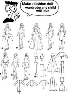 Free Printable Doll Clothes Patterns   ... sewing for dummies doll clothe wardrobe for 11 1 2 inch fashion dolls