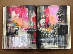 journal pages in progress - by bun - artist: roxanne coble Art Journal Pages, Artist Journal, Artist Sketchbook, Art Journals, Visual Journals, Fashion Sketchbook, Moleskine, Sketchbook Inspiration, Art Journal Inspiration