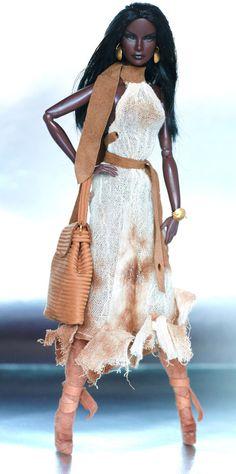 fashion royalty barbie beige dresstan leather by dollsalive, $44.00