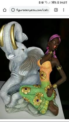 Bling Bottles, Spiritual Decor, African Sculptures, Africa Art, Elephant Art, Miguel Angel, Indian Paintings, African Design, African Beauty