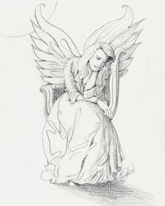 Angel Drawing Of Pencil Sketches | Guardian Angel Drawings In Pencil