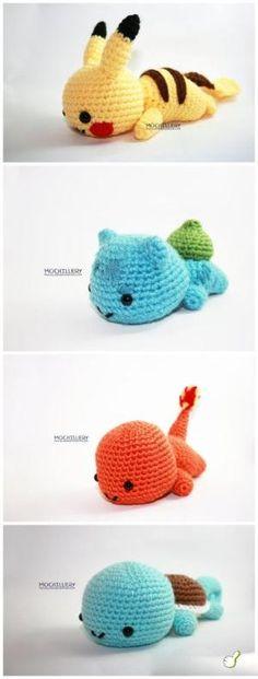 Starter Pokemon :) Gotta learn to crochet more things!!! :D by james