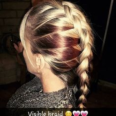 #beautiful #countrygirl #visiblebraid #blondehair #redpeekaboos #peekaboos #braid #frenchbraid #olaplex #hairgoals #longhairdontcare #hairmodel #hairstyles #hairstylebyjopresly #hairbyjopresly 💗💗 thanks for letting me practice braiding on your hair mom 😊 and I get to show off her color by Kristin 😉