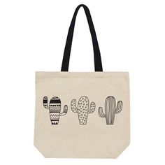My new Cactus Tote Bag. http://etsy.me/2Cr2Sht #bagsandpurses #beige #birthday #christmas #booksbag #totebag #cottoncanvas #officeworkbag #schooltotebag