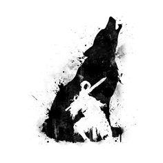 Awesome 'Artorias+-+Sif+Version+Black' design on TeePublic!
