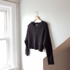 99ebe12d25e @lisaloveslions on Depop Super soft cropped black sweater from Urban  Outfitters Size Small Brand: