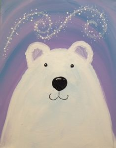 Polar Bear Paint, Polar Bear Drawing, Christmas Art For Kids, Winter Crafts For Kids, Crafts For 2 Year Olds, New Year Art, Bear Paintings, Polar Animals, School Art Projects