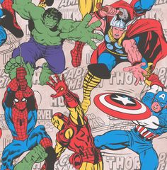 Marvel Superheroes Multi wallpaper by Kids @ Home
