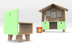 desk and chair DOMUM designed for kids by Carolina Balbino and Pedro Rocha.