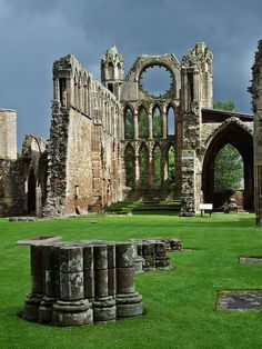 Elgin Cathedral Scotland.  Boy, I bet this place was amazing when it was in use
