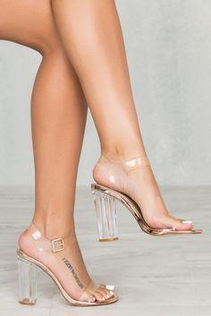 Carson Transparent Heel (Rose Gold)