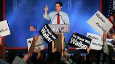 FREEDOM FIGHTER: Wisconsin Gov. Scott Walker addresses supporters Tuesday night after winning the Wisconsin recall election.