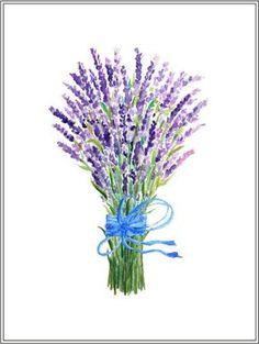 Hand painted watercolor lavender blue purple by CornerCroft
