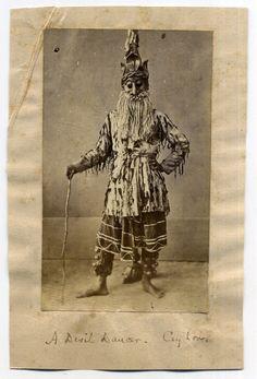 A Devil Dancer, Ceylon (Sri Lanka) - Old Indian Photos