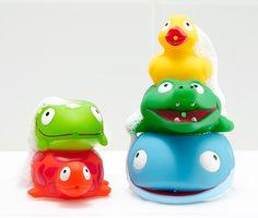 Striekacie zvieratká do vody, 5 ks Wal, Rubber Duck, Crocodile, Children Toys, Water, Animales, Deco