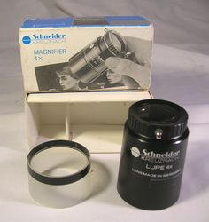 Mint Schneider Kreuznach Universal Lupe 4x Magnifying Jewelers Loupe W/Box  NR #SchneiderKreuznach