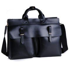 "Handmade Leather Briefcase / Messenger / 14"" 15"" Laptop or 15"" MacBook Pro Bag"