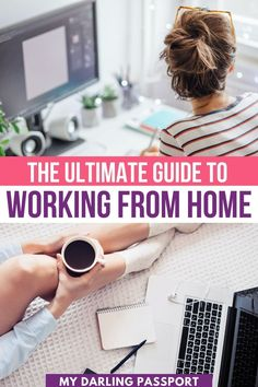 The Ultimate Guide to Working from Home. Are you new to working from home? There are some important things to keep in mind to ensure you have a successful WFH experience and that productivity doesn't slip. I've been working from home for years. I have an arsenal of tips and advice to help you be successful when you work from home. Here's the ultimate guide to working from home! Tips to Work from Home | Productivity Tips | Tips for Working Remotely | Florida Travel, California Travel, Cute Office Supplies, Passport Travel, Travel Jobs, Dinner With Friends, Work Activities, Family Adventure, New Things To Learn