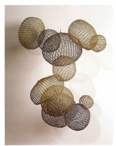 Wonderful sculptures by American fiber artist Ruth Asawa (1926-2013). via Stitch and Tickle