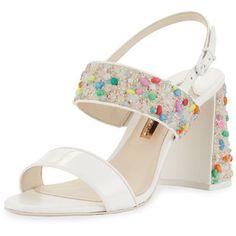 Sophia Webster Clarice Mid Beaded Slingback Sandal